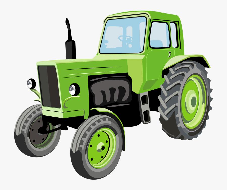 Green Deere John Agriculture Cartoon Tractor Clipart - Tractors Clipart, Transparent Clipart