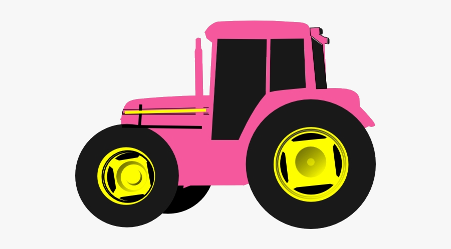 John Deere Clip Art Http Www Clker Com Clipart Hot - Clip Art Pink Tractor, Transparent Clipart