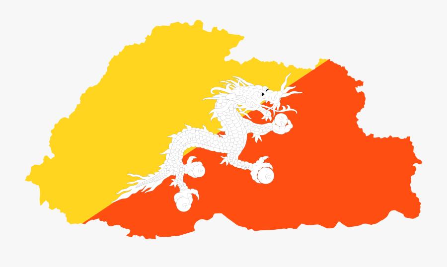 Bhutan Flag Big Image - Real National Bhutan Flag, Transparent Clipart
