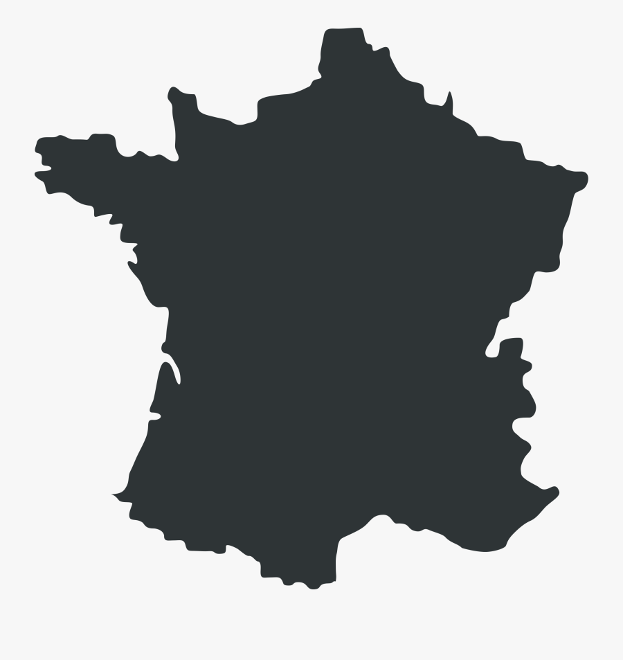 Map Clipart Map French - France Map Outline Png, Transparent Clipart