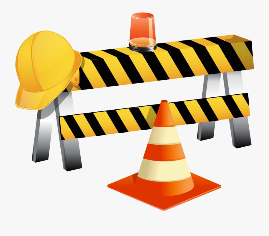 Clip Art Vector Flagger Working On Road Construction - Construction Site Clipart, Transparent Clipart