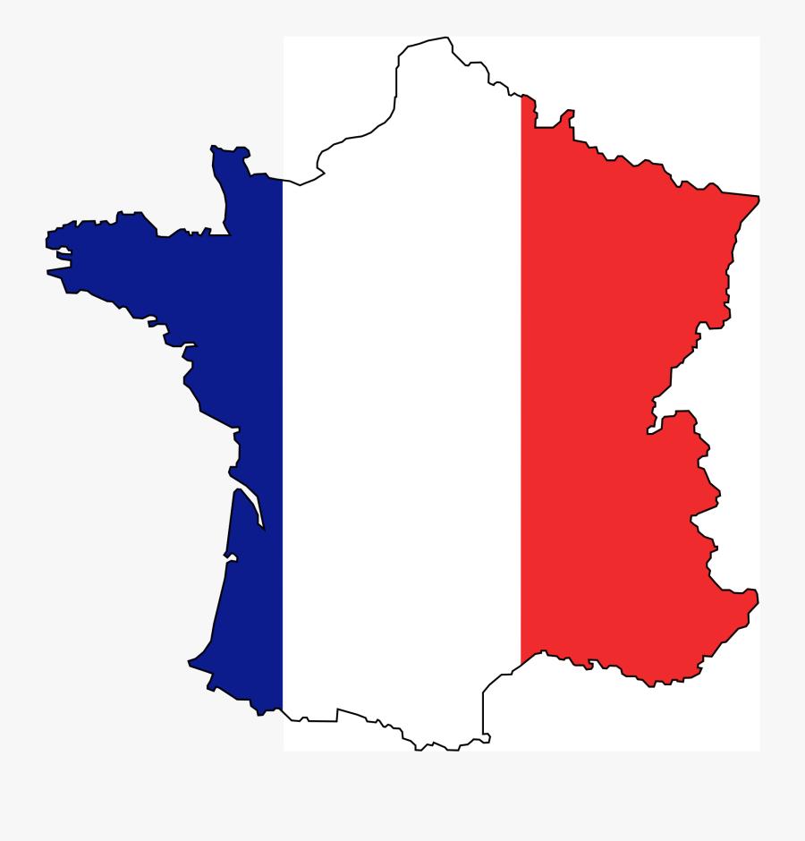 France Flag Map Transparent, Transparent Clipart