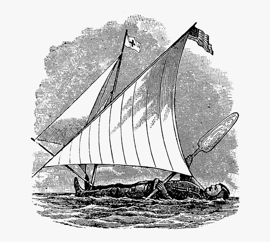 Transparent Sailboat Clipart Black And White - Sail, Transparent Clipart