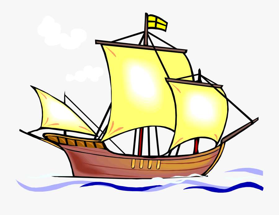Transparent Sailboat Clipart Png - Ship Picture For Colouring, Transparent Clipart