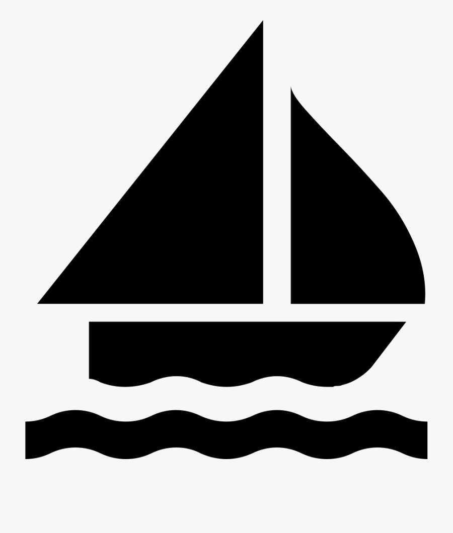 Boat Silhouette Clip Art At Getdrawings - Sailing Boat Icon, Transparent Clipart