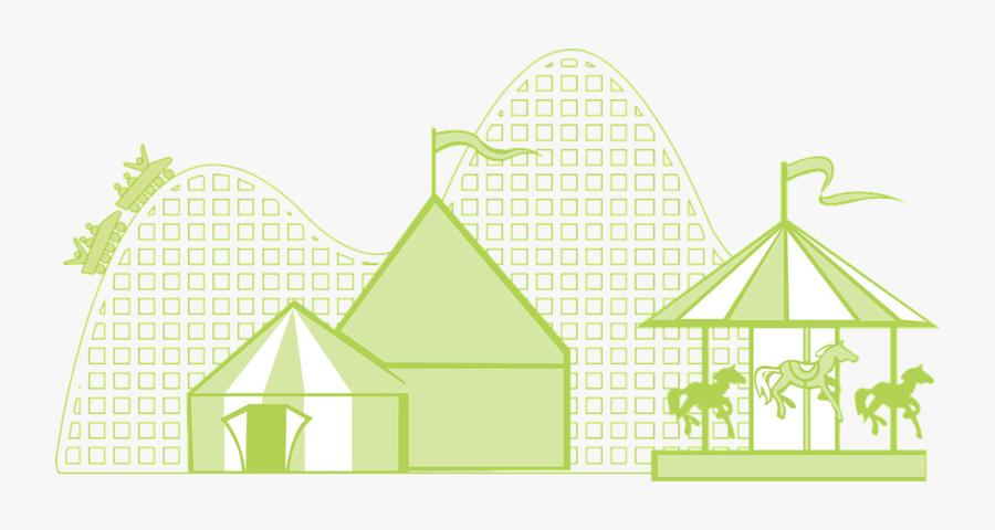 Transparent Circus Tent Png - Theme Park Clipart Black And White, Transparent Clipart
