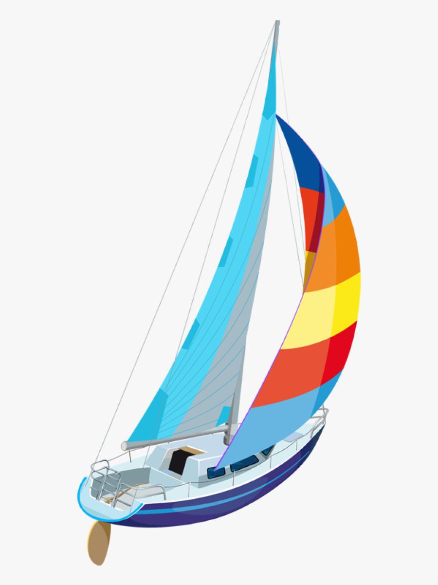 Sailboat Clip Art And - Racing Sail Clip Art, Transparent Clipart