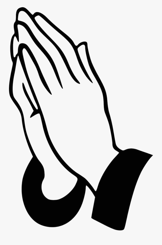 Praying Hands - Clip Art Prayer Hand, Transparent Clipart