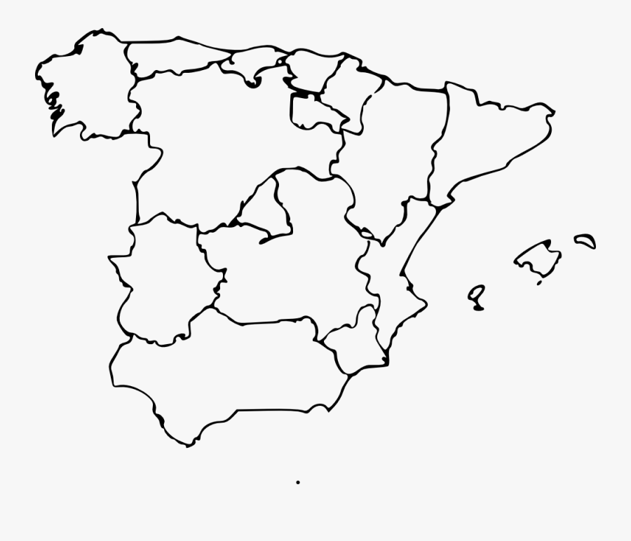 Thumb Image - Blank Regions Of Spain, Transparent Clipart
