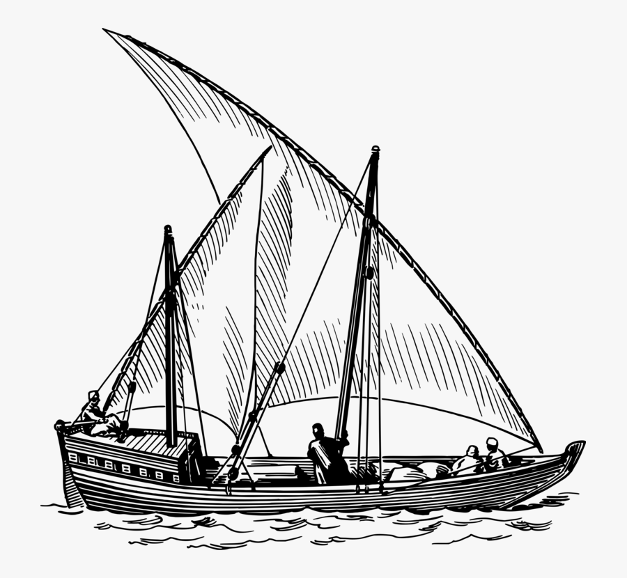 Monochrome - Sail Clip Art, Transparent Clipart