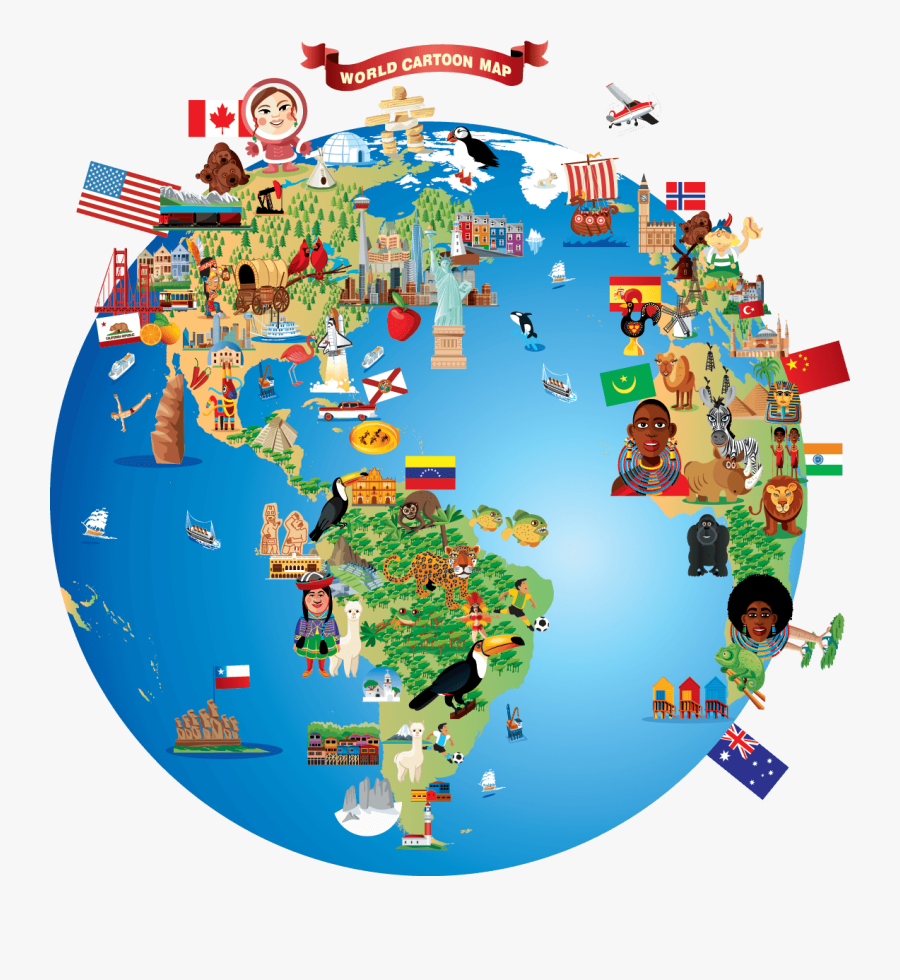 Map Of The World Clipart, Transparent Clipart