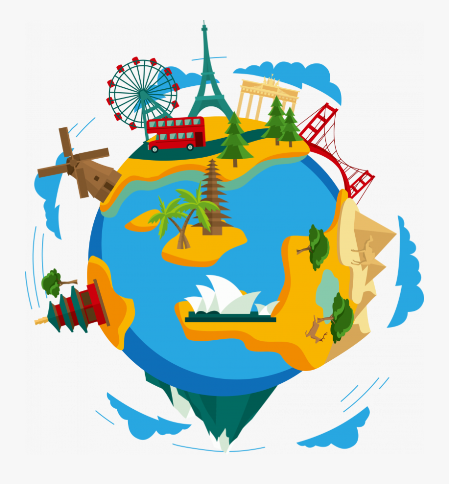 Travel Around The World Png Clipart , Png Download - Travel The World Clipart, Transparent Clipart