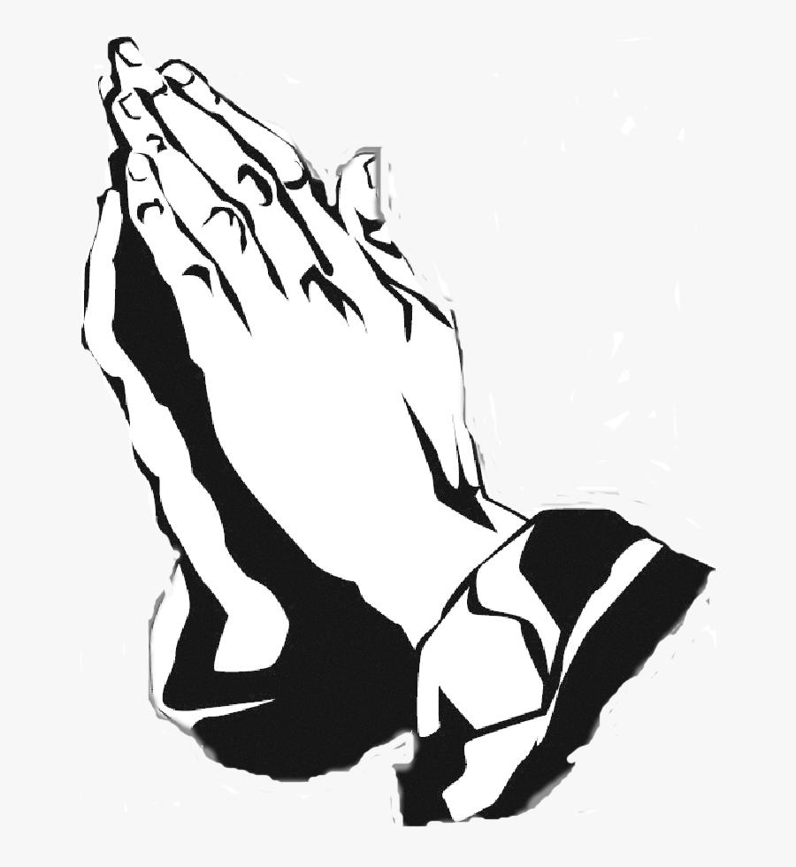 Black And White Praying Hands Free Download Clip Art - Transparent Praying Hands Png, Transparent Clipart