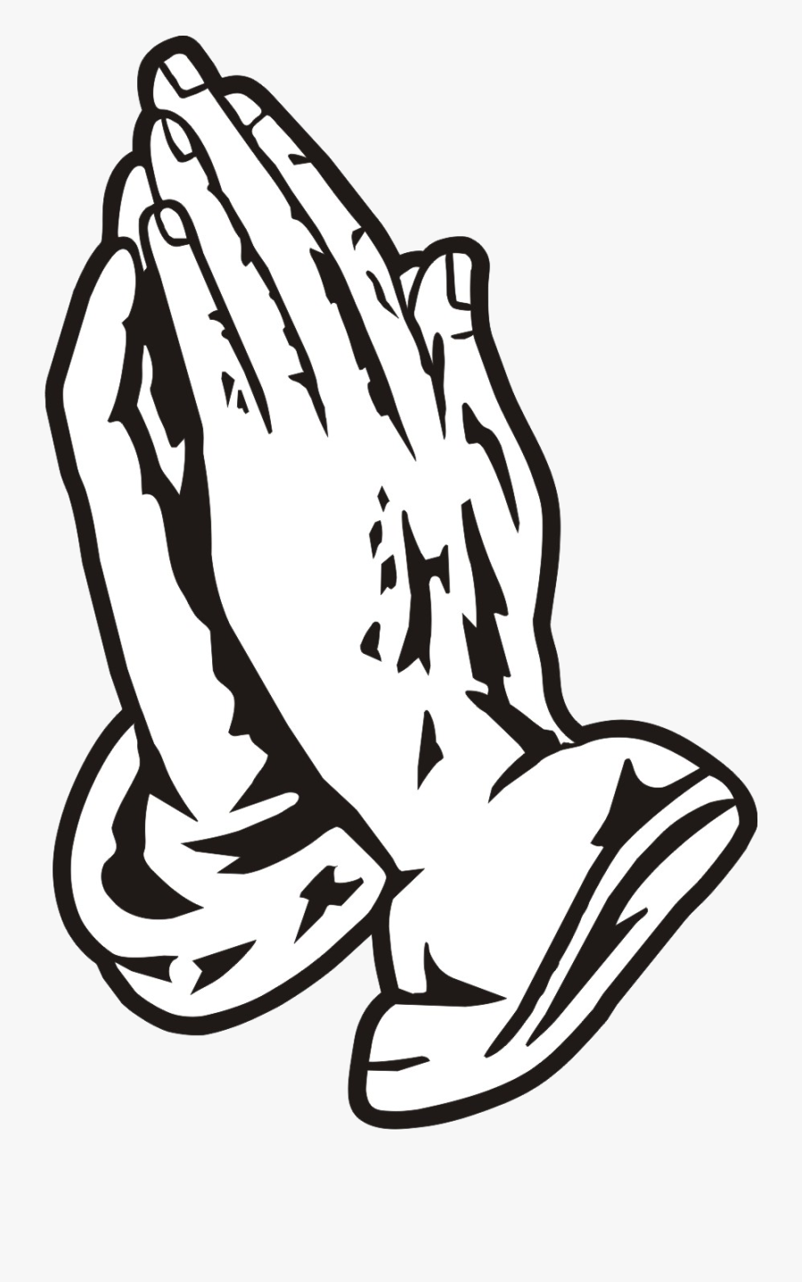 Praying Hands Black Clipart Free Images Transparent - Drake Praying Hands Drawing, Transparent Clipart