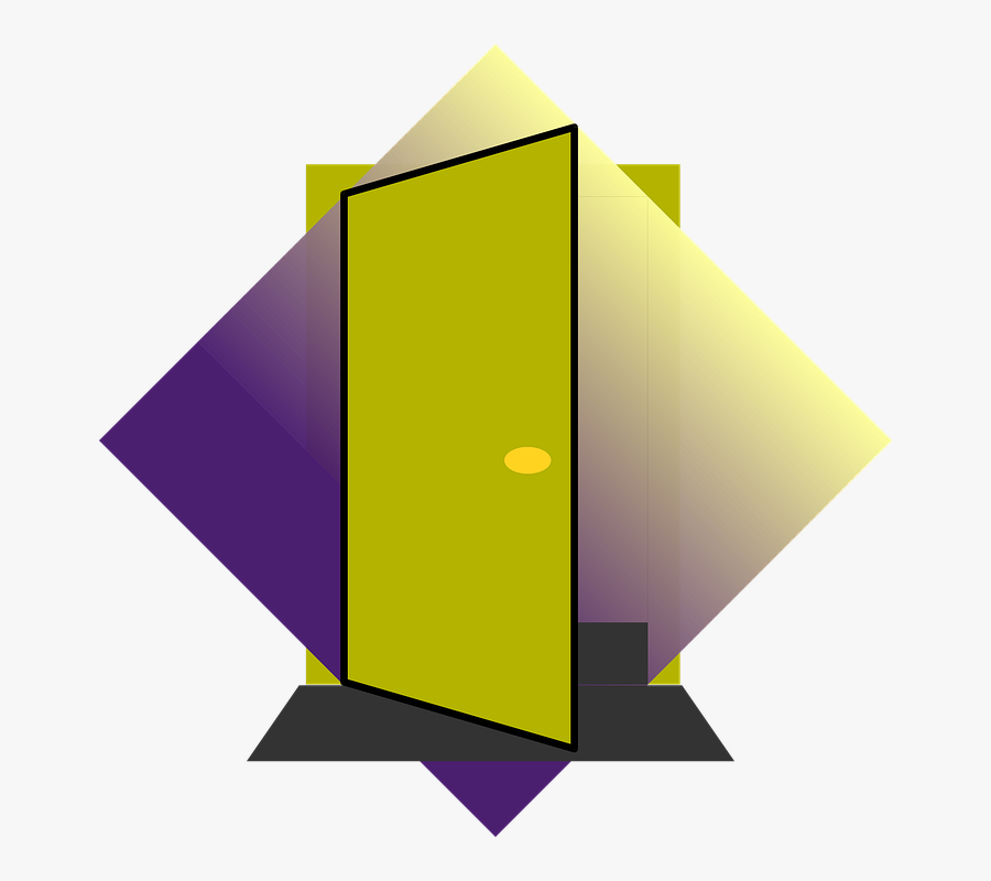 Free Vector Door Clip Art - Door Closing And Opening Animated, Transparent Clipart