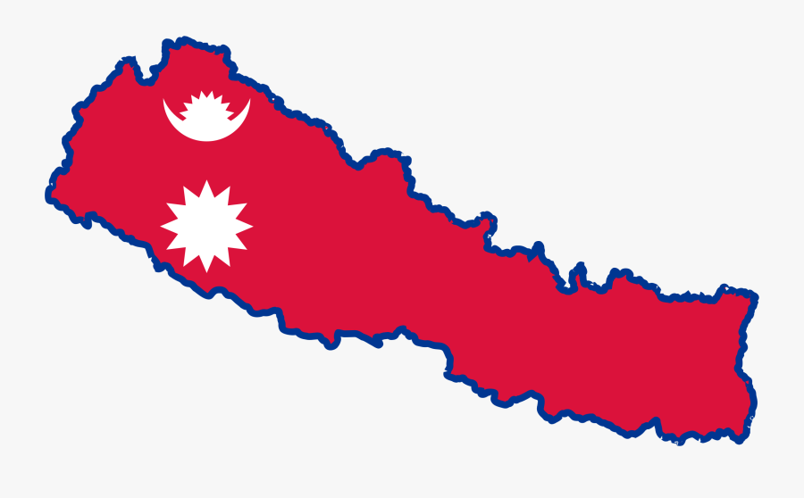 Nepal Map Clipart - Nepali Map With Flag, Transparent Clipart