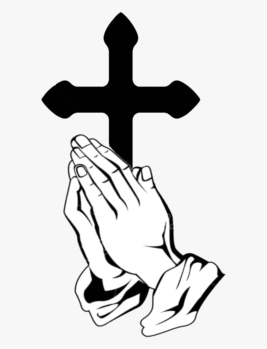 Praying Hands Prayer Can Truly Change Your Life - Cross With Hands Praying, Transparent Clipart