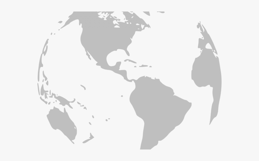 World Clipart Grey - Transparent Earth Globe Png, Transparent Clipart