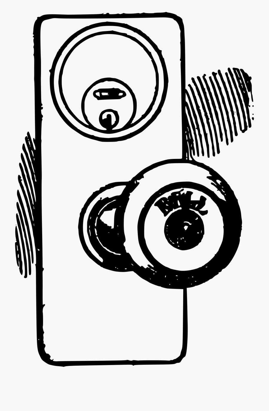 Hd Image Transparent Download Door Black And White - Lock Door Clip Art Black And White, Transparent Clipart