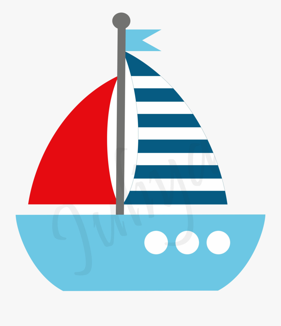 Sailboat Clipart Red And Blue Pencil In Color Transparent - Sailboat Clipart Green, Transparent Clipart
