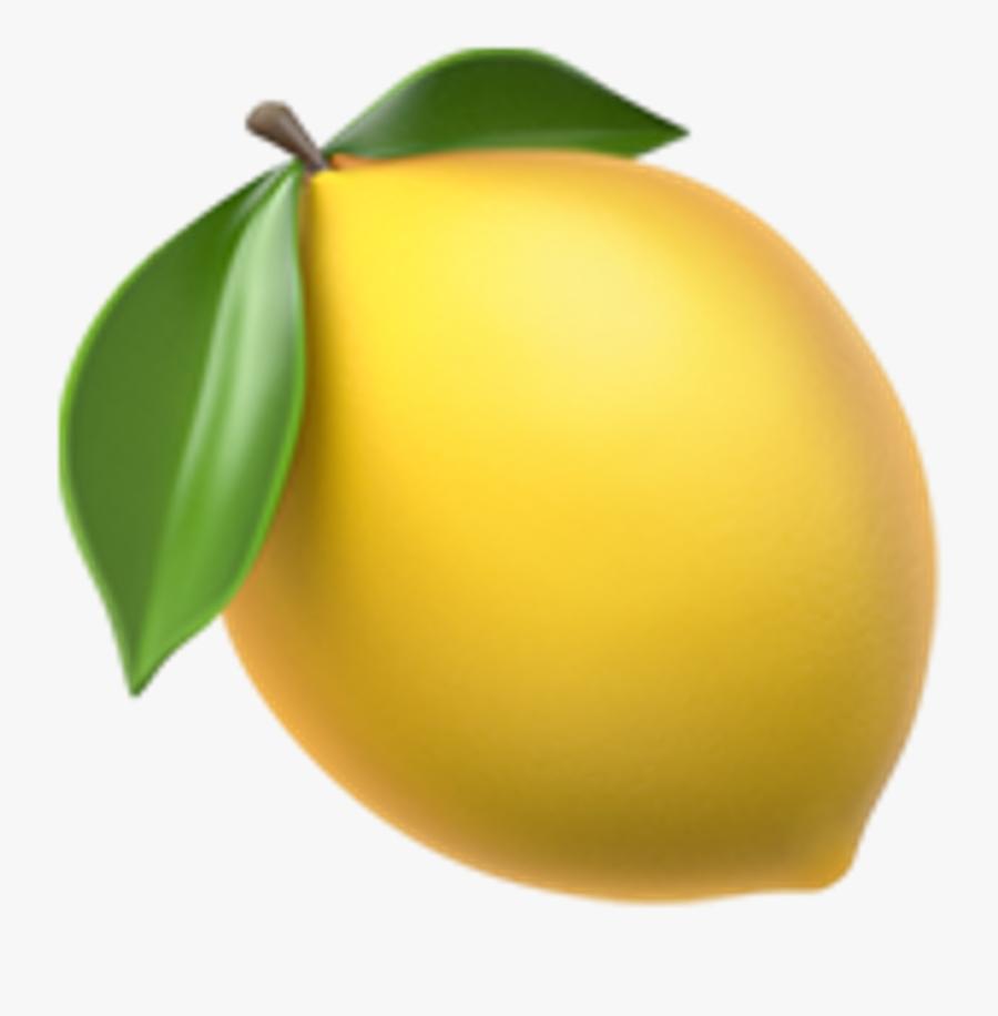 Lemon Clipart Emoji - Lemon Emoji Apple, Transparent Clipart