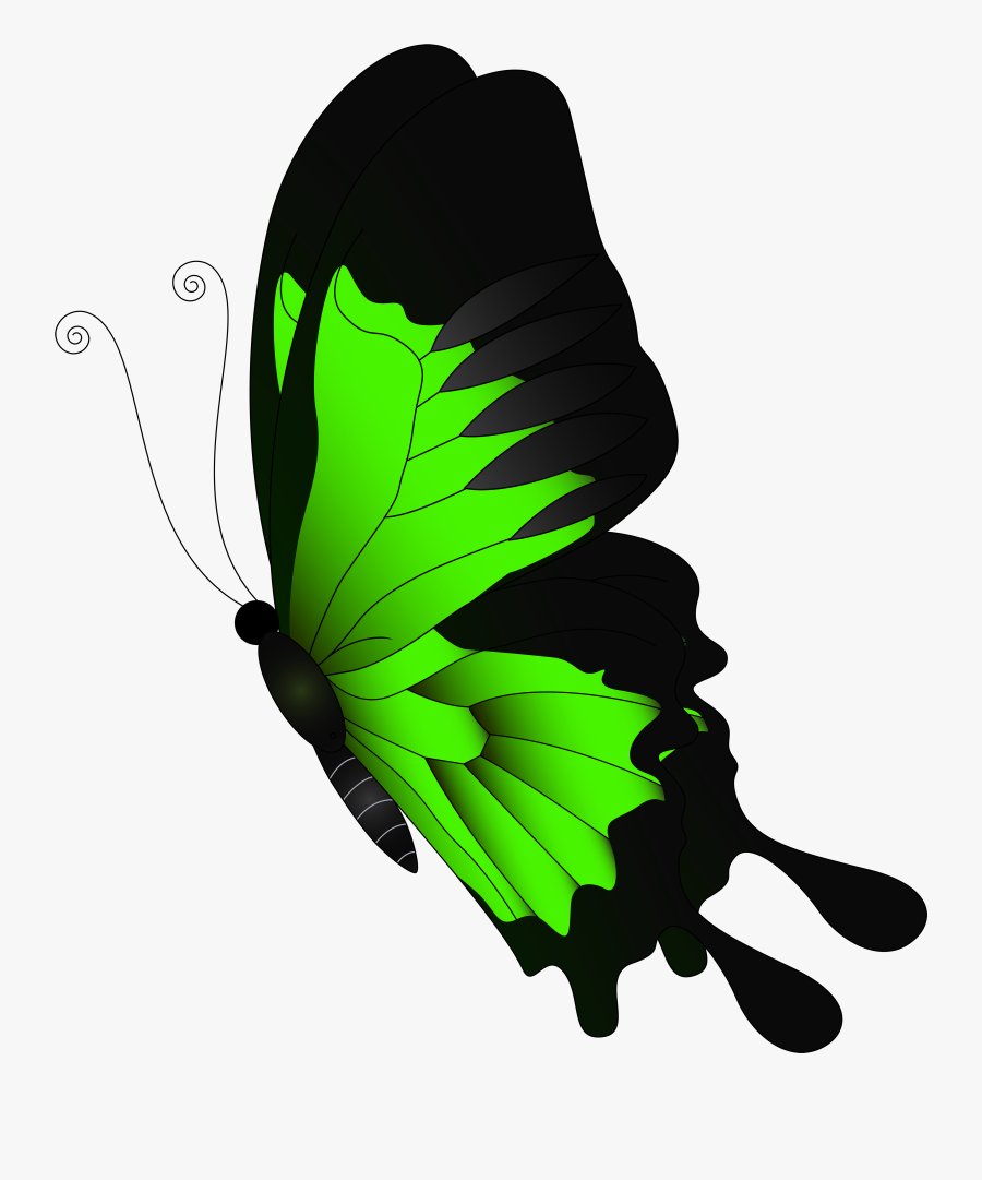 Butterfly Clipart Green - Red Butterfly Png Transparent, Transparent Clipart
