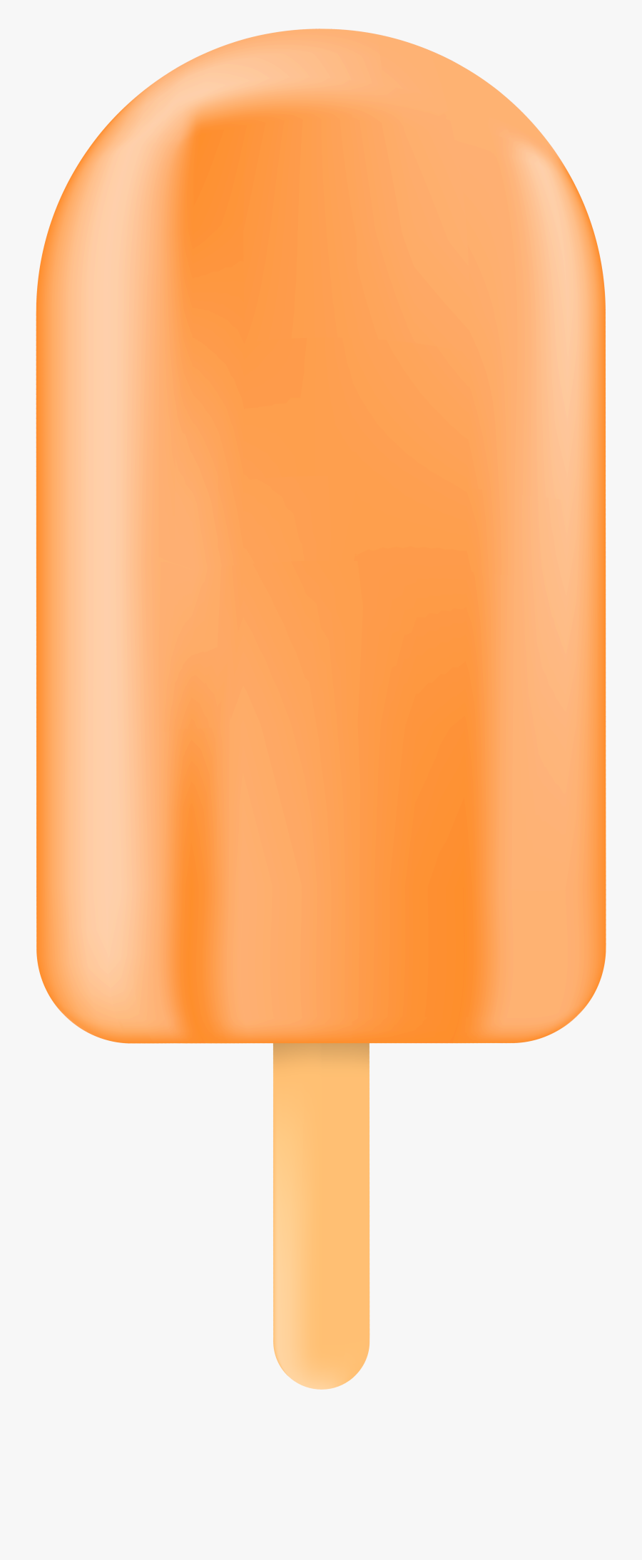Orange,frozen Dessert,ice Pop,ice Cream Bar,material - Orange Bar Ice Creams Png, Transparent Clipart