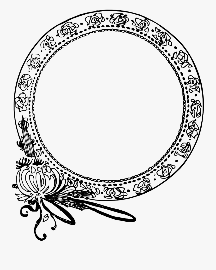 Circle Flower Frame - Circle Fancy Png, Transparent Clipart