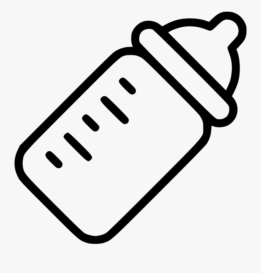 Baby Bottle Black And White Search Result Cliparts - White Baby Bottle Clipart, Transparent Clipart