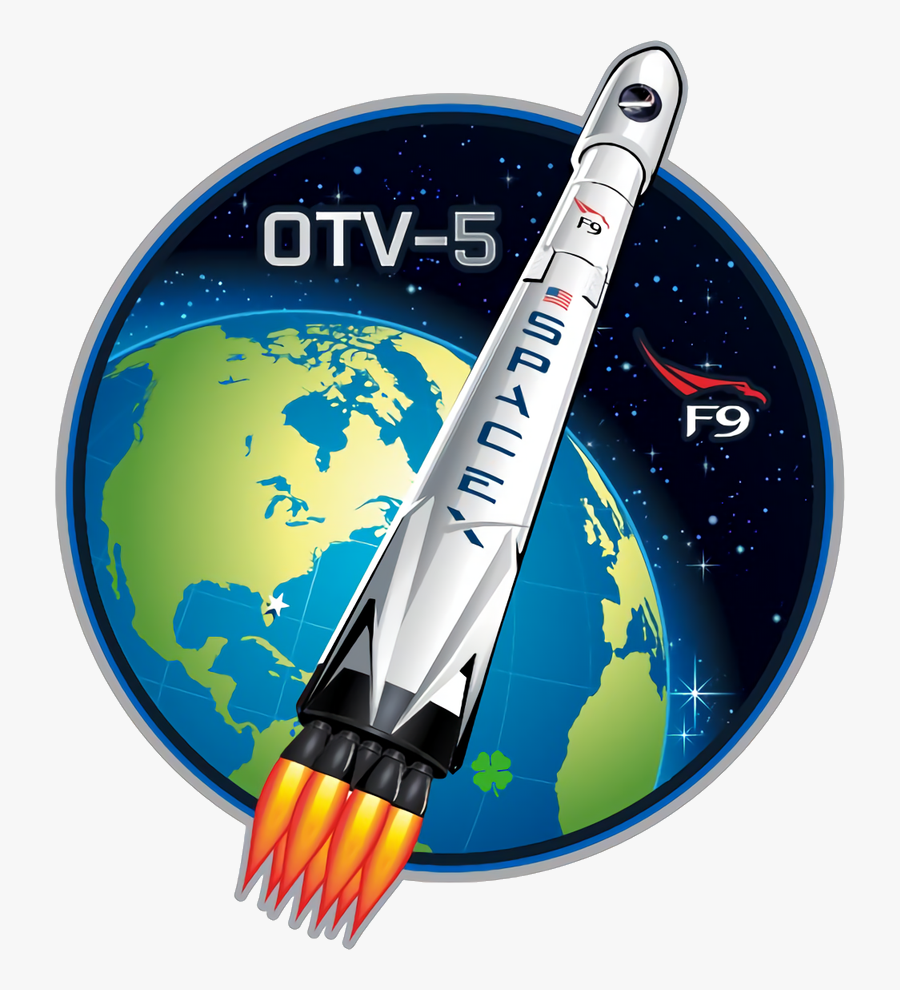 Spacex Targeting Thursday For - Spacex Otv 5 Patch, Transparent Clipart