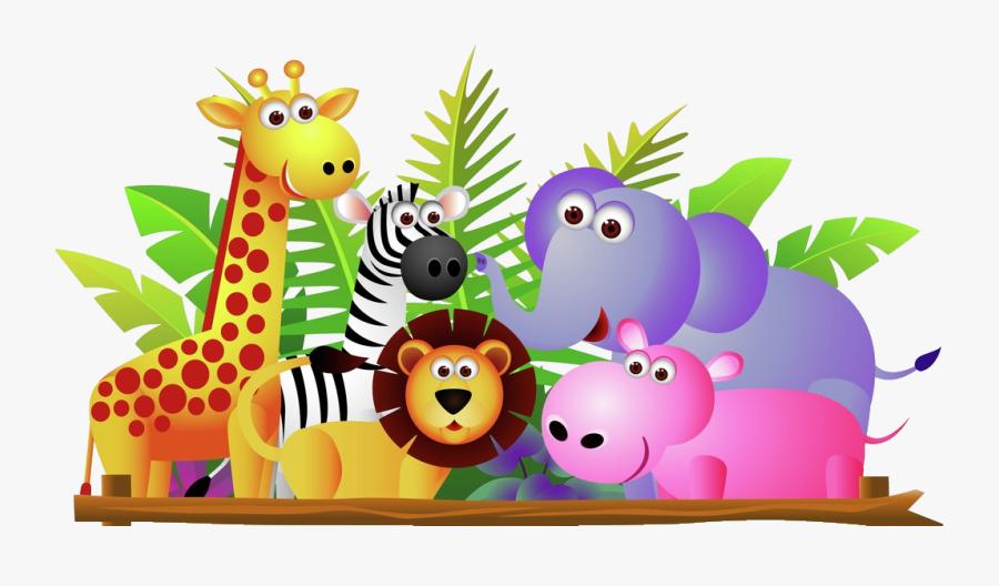 Clip Art Group Of Clipart - Zoo Animals Clip Art, Transparent Clipart