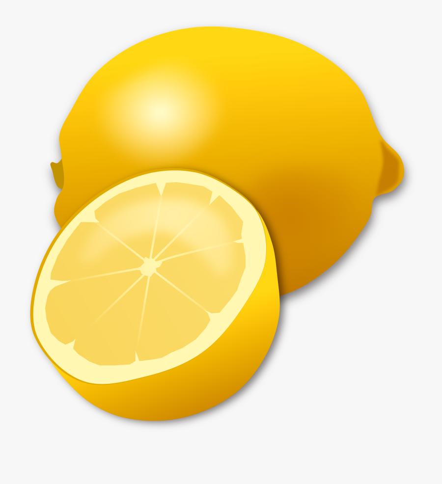 Transparent Lemon Clipart - Cartoon Lemon With Transparent Background, Transparent Clipart