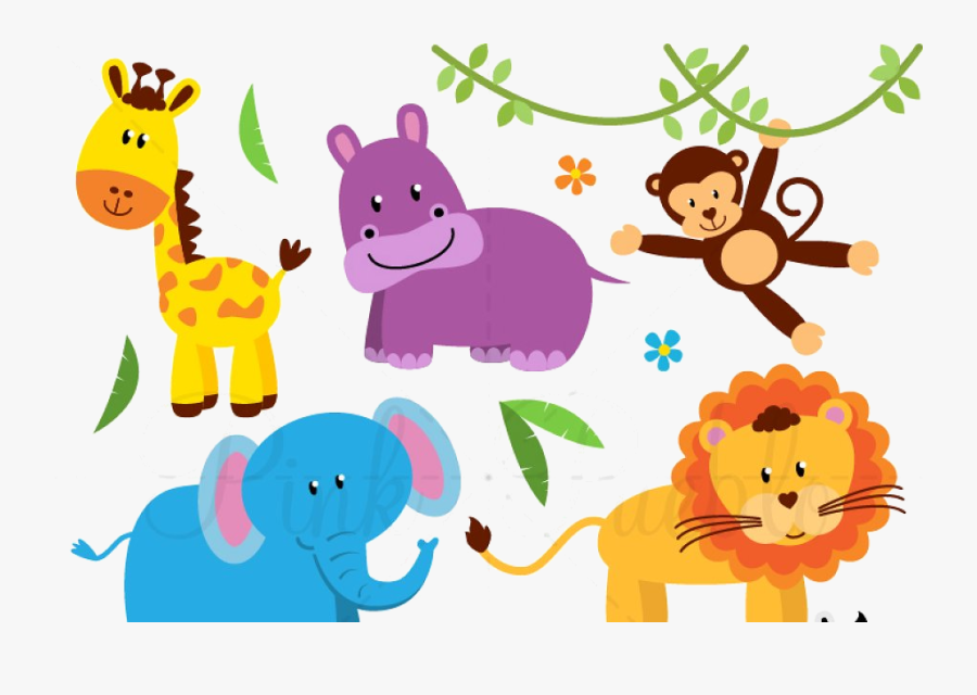 Animal Zoo Jungle Safari Animals Clipart Illustrations - Zoo Animals Clipart, Transparent Clipart
