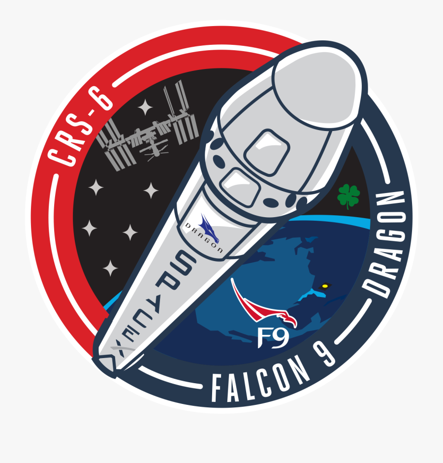 Related Spacex Rocket Clipart - Spacex Crs 6 Patch, Transparent Clipart