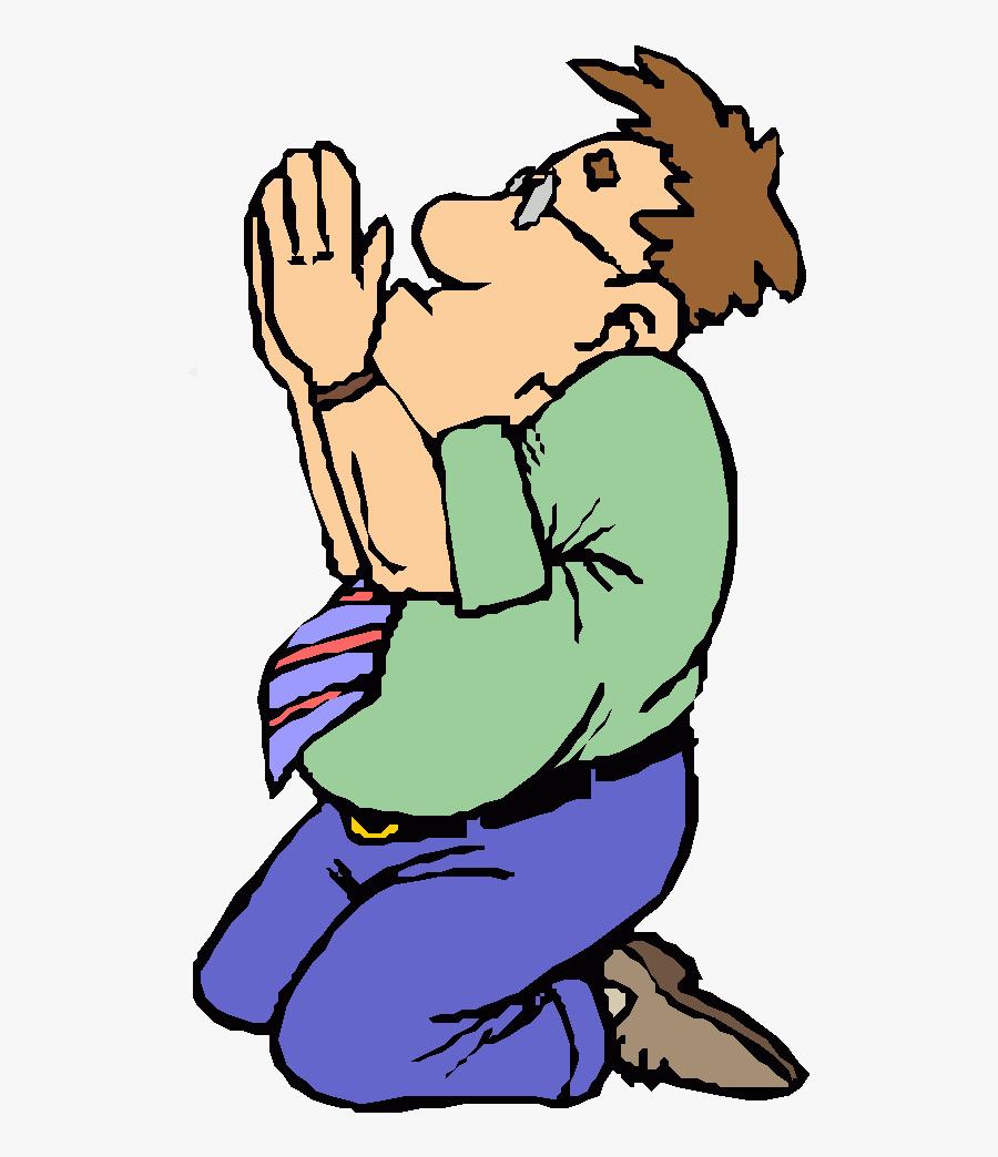 Cartoon Man Praying Clipart Praying Hands Prayer Clip - Person Praying Cartoon, Transparent Clipart