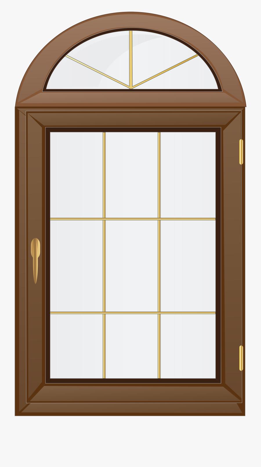 Transparent Brown Window Png Clip Art - Window Clipart Png, Transparent Clipart