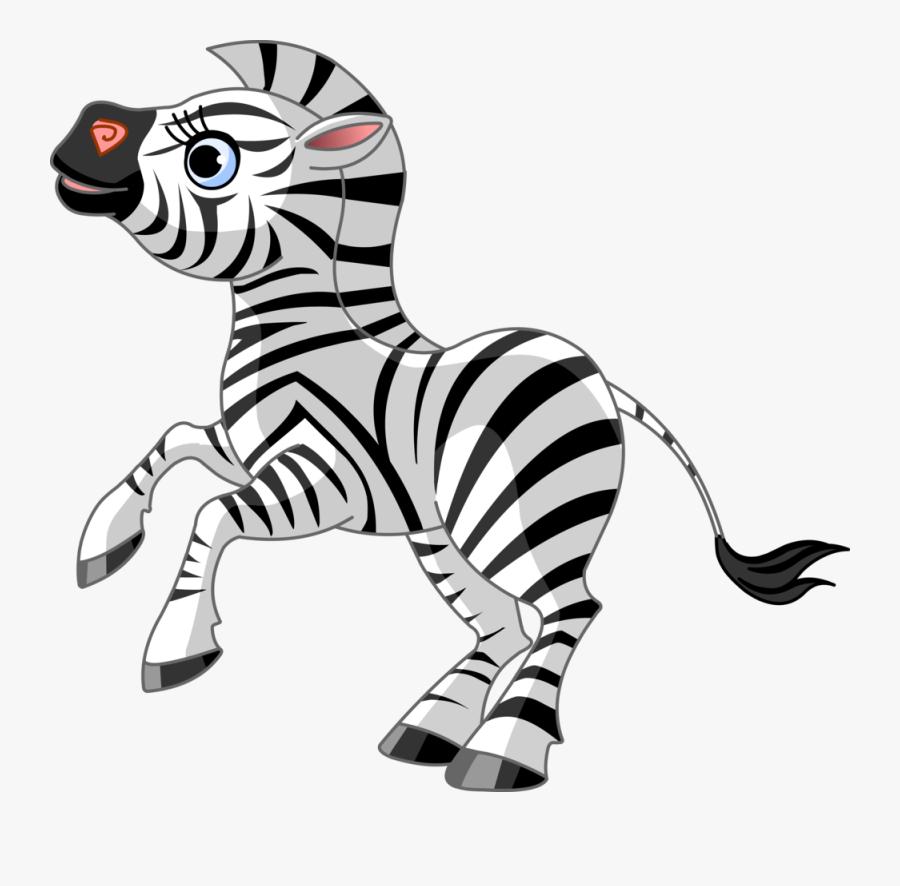 Blue Zebra Clipart - Zoo Animals Clip Art, Transparent Clipart