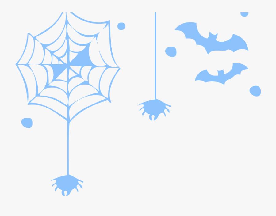 Free Online Spider Webs Spiders Bats Vector For Design - Spider Web, Transparent Clipart