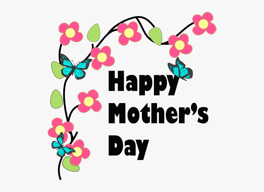 "Happy Mother""s Day Messages With Flowers - Happy Mother Day Cushions, Transparent Clipart"