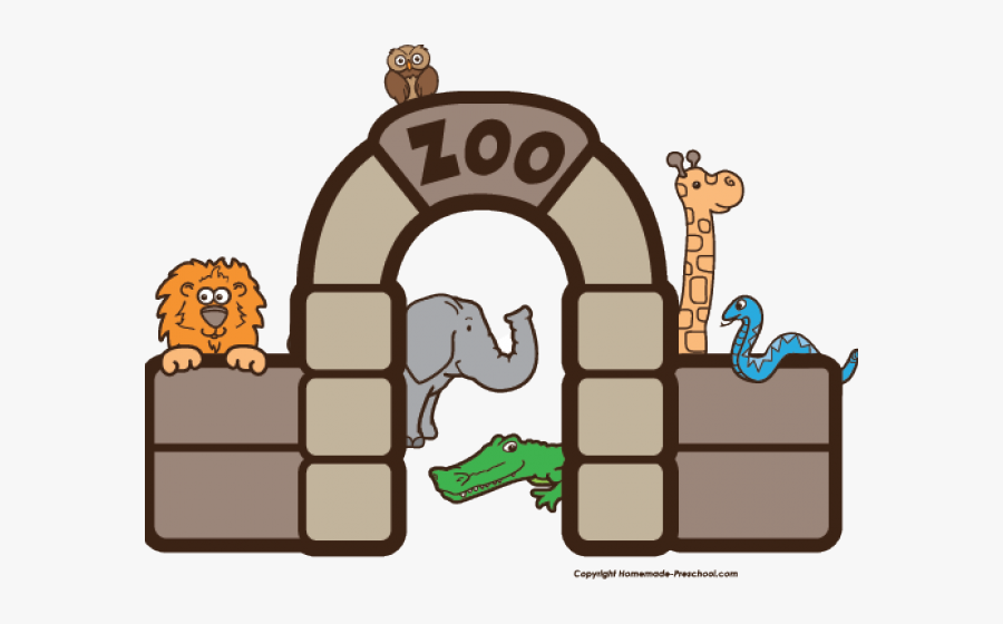 Clip Art Of Zoo Black And White, Transparent Clipart