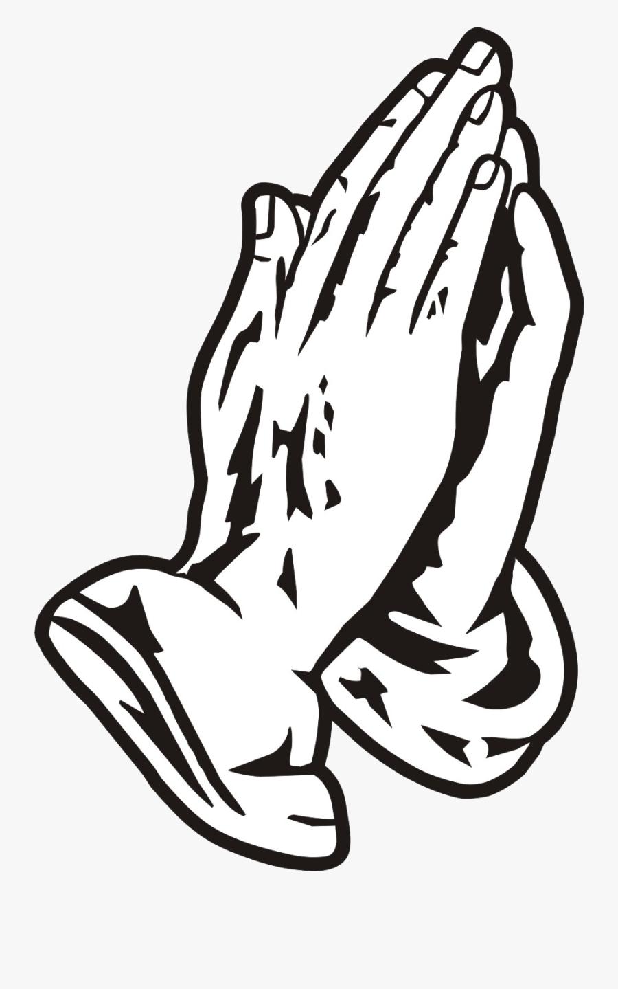 Praying Hands Hand Prayer Clipart Image Transparent - Prayer Hands Vector Png, Transparent Clipart