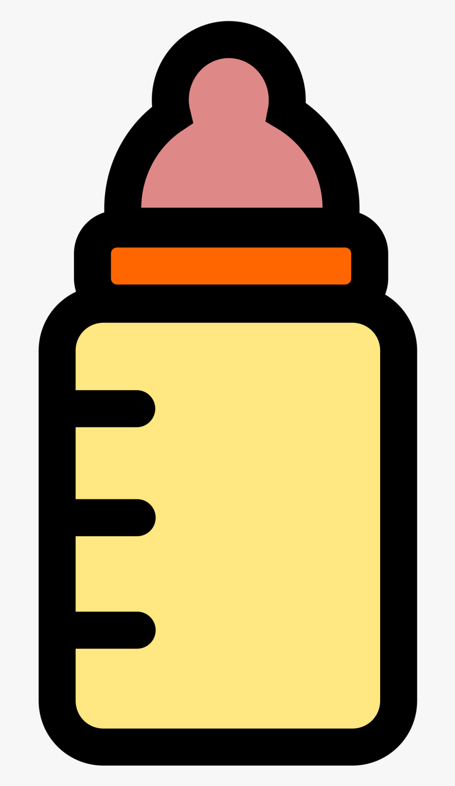 Free Pictures Download Clip - Baby Bottle Drawing Easy, Transparent Clipart