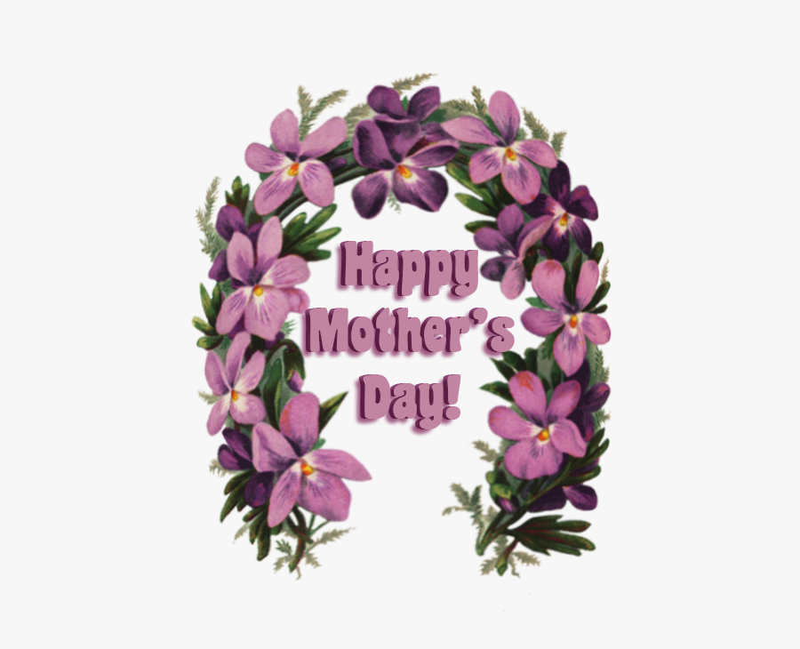 """Mother""""s Day Greeting With Flowers - Happy Mothers Day Lei, Transparent Clipart"""