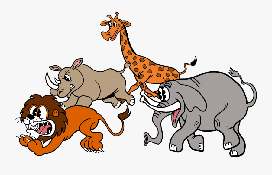 Escape From Central Park - Animals From The Zoo Escape Cartoon, Transparent Clipart