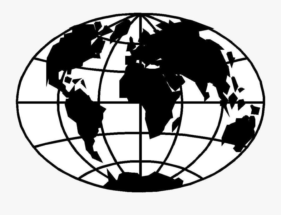 Globe Black And White World Clipart Clipartfox Transparent - World Globe Black And White Clipart, Transparent Clipart