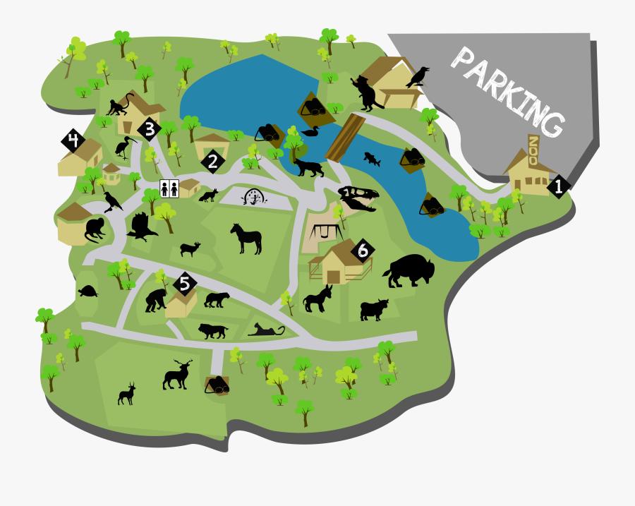 Potawatomi Zoo Map, Transparent Clipart