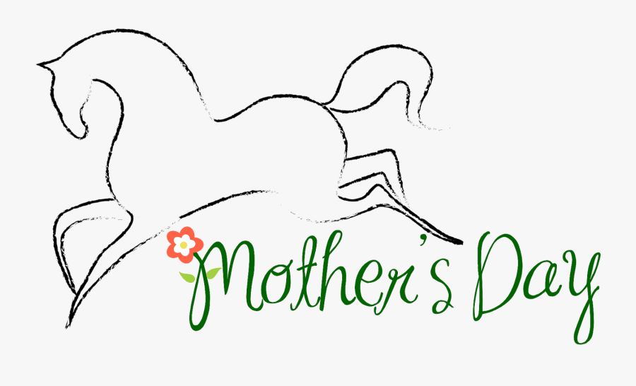 Mother's Day Horses, Transparent Clipart