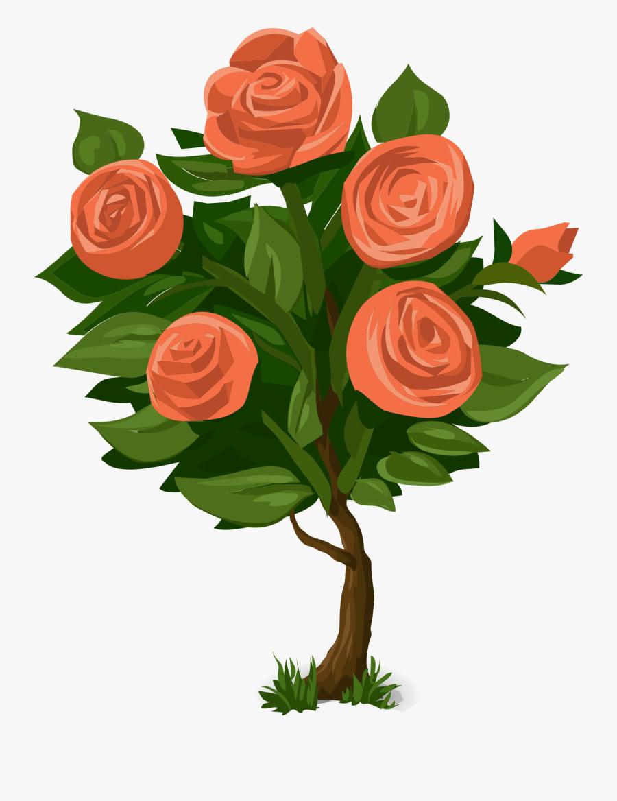 Clip Art Of Plants - Rose Bushes Clip Art, Transparent Clipart