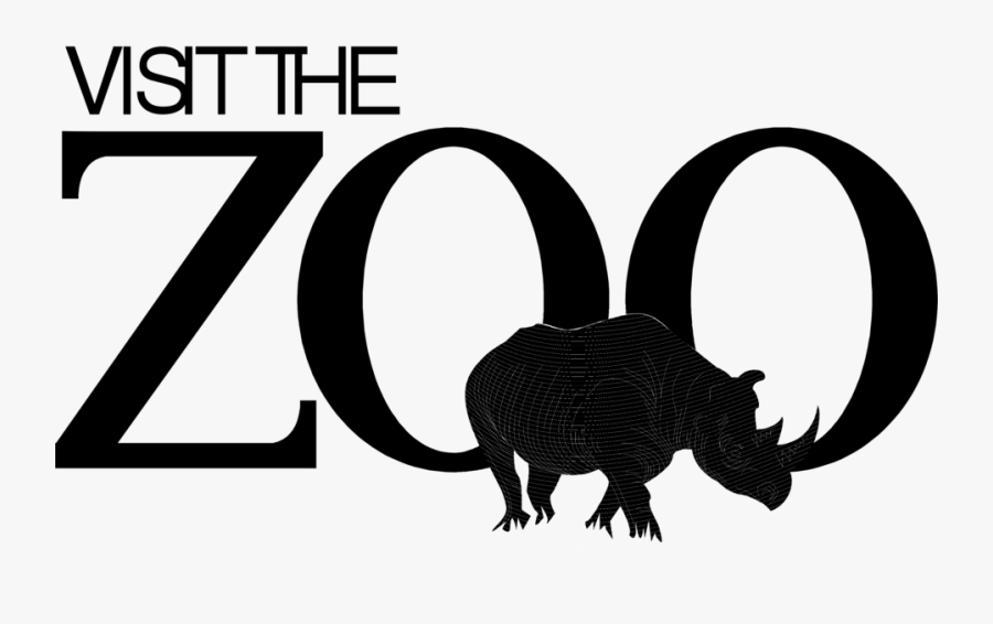Free Stock Photos - Black And White Zoo Animal Clip Art, Transparent Clipart