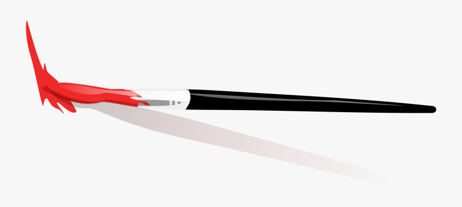 Onlinelabels Clip Paint Brush - Paintbrush With Dripping Paint, Transparent Clipart